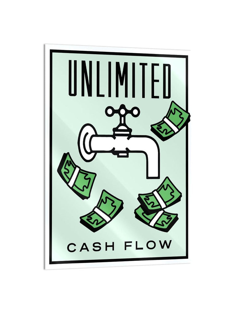 """Cash Flow"" - Glass Print - HYLUS Acrylic Glass Art - Skateboards, Surfboards & Glass Prints Wall Decor for your Home."