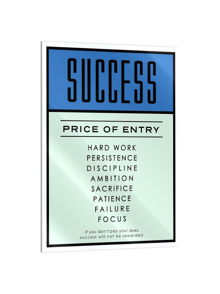 """Success"" - Glass Print - HYLUS Acrylic Glass Art - Skateboards, Surfboards & Glass Prints Wall Decor for your Home."