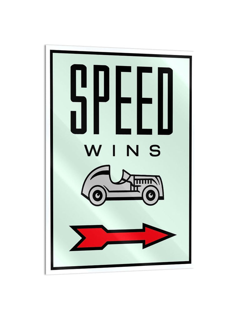 """Speed Wins"" - Glass Print - HYLUS Acrylic Glass Art - Skateboards, Surfboards & Glass Prints Wall Decor for your Home."