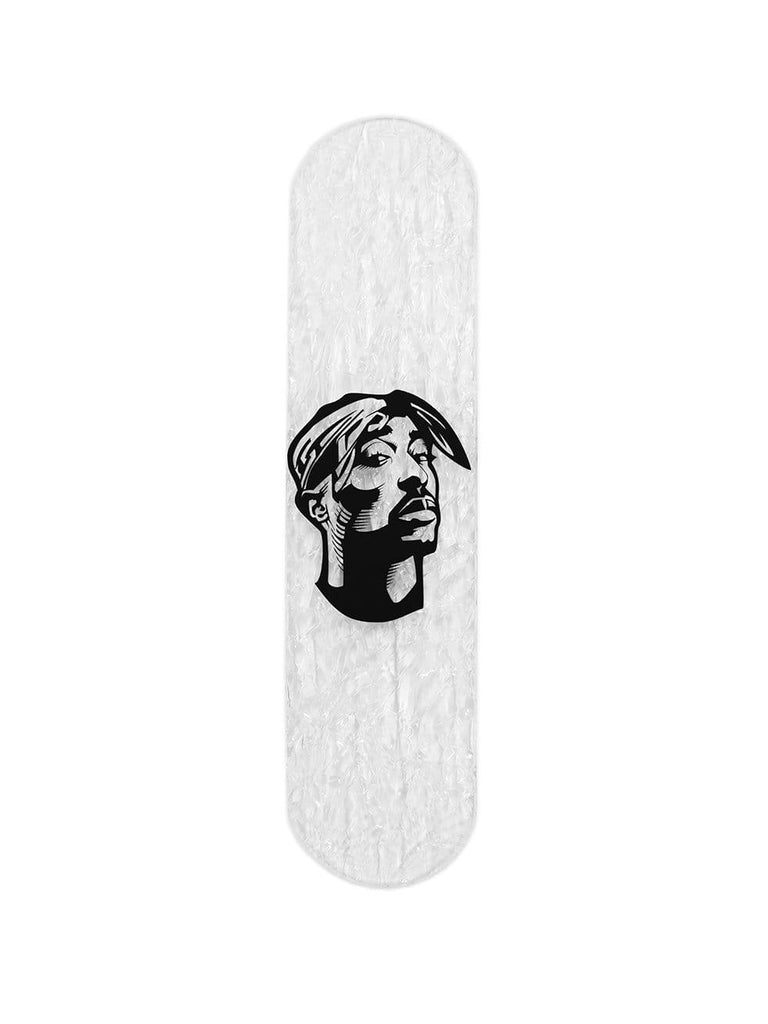"CRYSTAL Edition: ""Shakur"" - CRYSTAL Skateboard - HYLUS Acrylic Glass Art - Skateboards, Surfboards & Glass Prints Wall Decor for your Home."