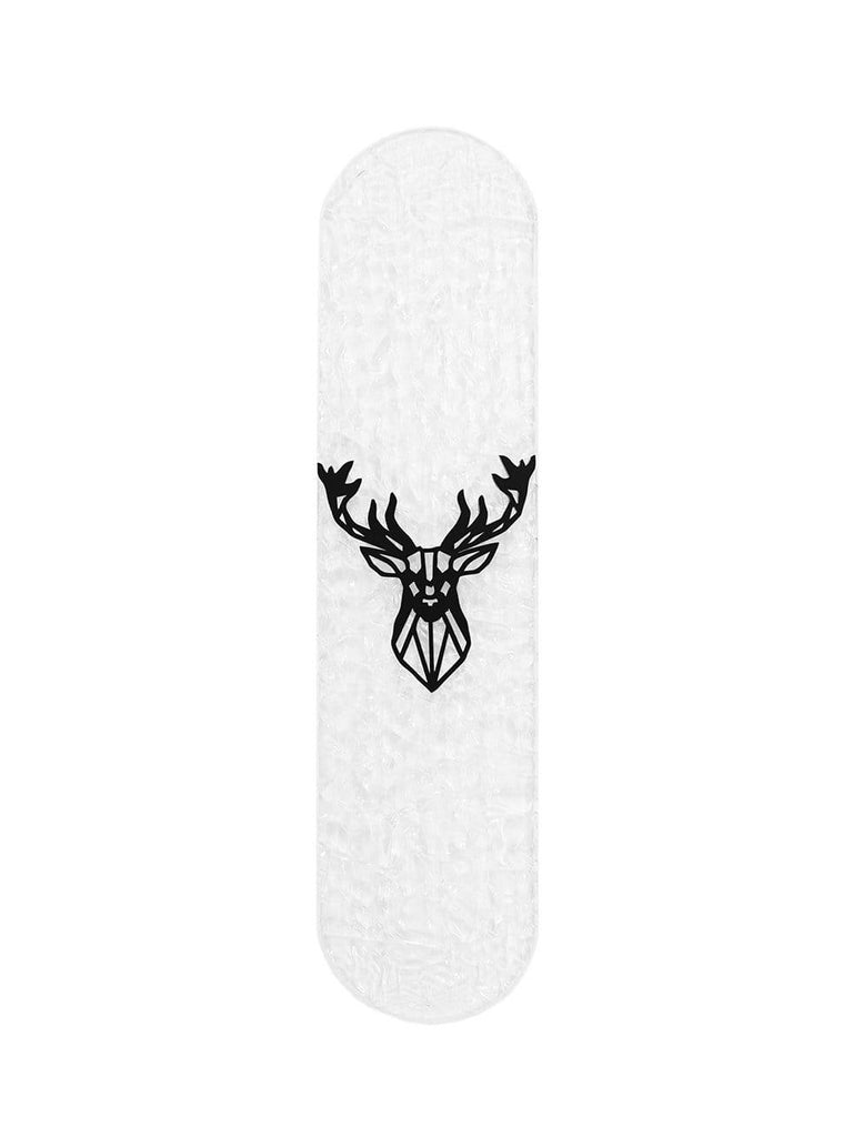 "CRYSTAL Edition: ""Deer"" - CRYSTAL Skateboard - HYLUS Acrylic Glass Art - Skateboards, Surfboards & Glass Prints Wall Decor for your Home."