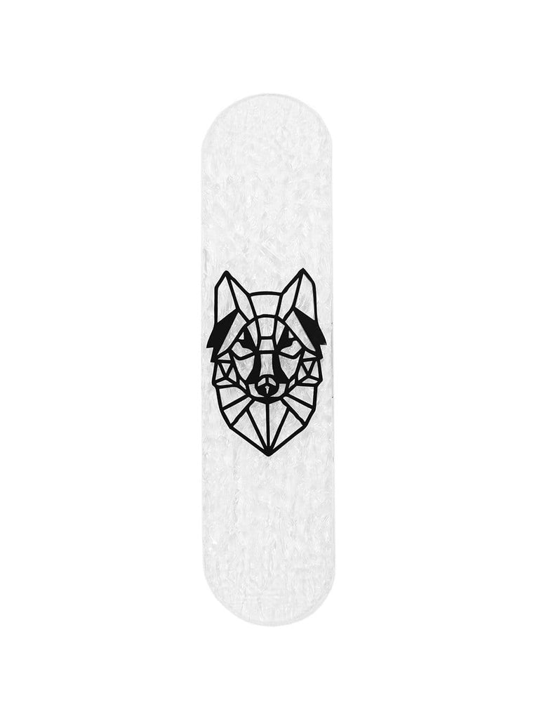 "CRYSTAL Edition: ""Wolf"" - CRYSTAL Skateboard - HYLUS Acrylic Glass Art - Skateboards, Surfboards & Glass Prints Wall Decor for your Home."