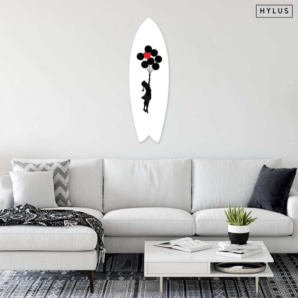 """Hope"" - Surfboard - HYLUS Acrylic Glass Art - Skateboards, Surfboards & Glass Prints Wall Decor for your Home."