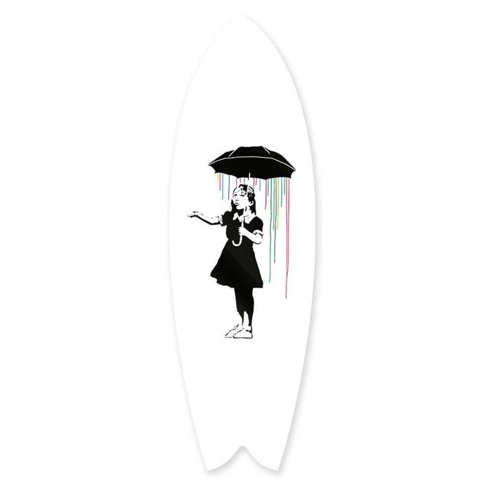 """Under the Rainbow"" - Surfboard - HYLUS Acrylic Glass Art - Skateboards, Surfboards & Glass Prints Wall Decor for your Home."