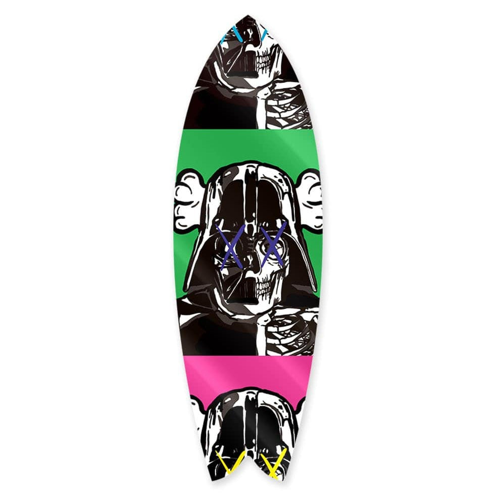 """Space Soldier X Green"" - Surfboard - HYLUS Acrylic Glass Art - Skateboards, Surfboards & Glass Prints Wall Decor for your Home."