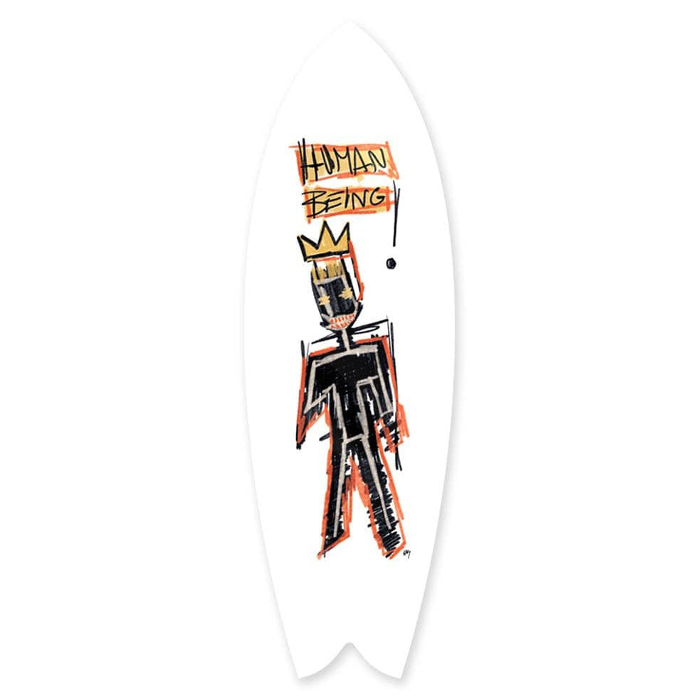 """Human Being"" - Surfboard - HYLUS Acrylic Glass Art - Skateboards, Surfboards & Glass Prints Wall Decor for your Home."