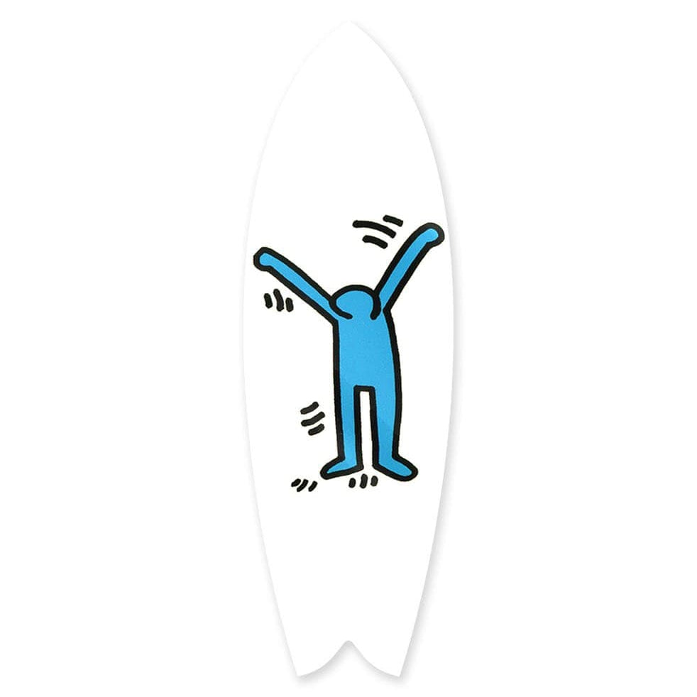 """Joyful Blue"" - Surfboard - HYLUS Acrylic Glass Art - Skateboards, Surfboards & Glass Prints Wall Decor for your Home."