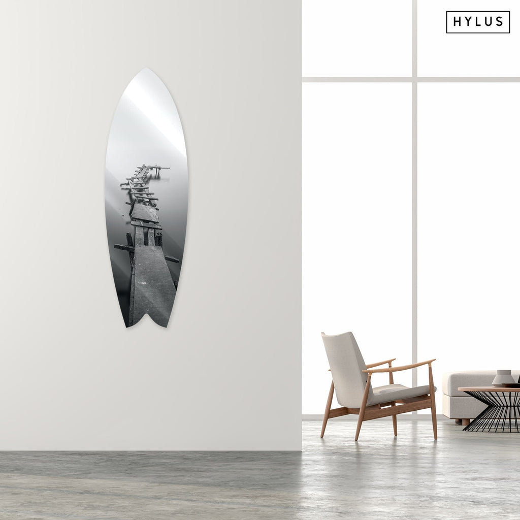 """Road to Nowhere"" - Surfboard - HYLUS Acrylic Glass Art - Skateboards, Surfboards & Glass Prints Wall Decor for your Home."