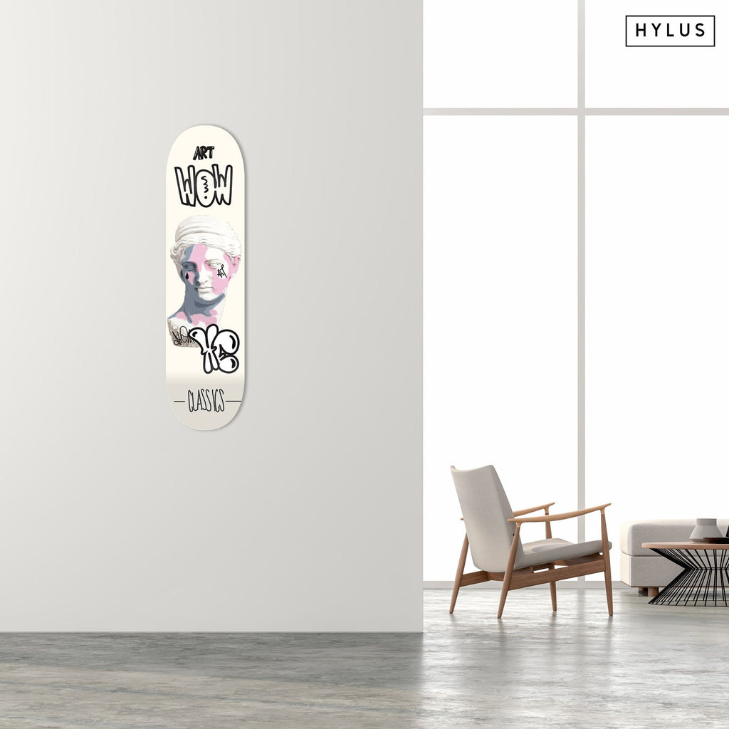 """Venus"" - Skateboard - HYLUS Acrylic Glass Art - Skateboards, Surfboards & Glass Prints Wall Decor for your Home."