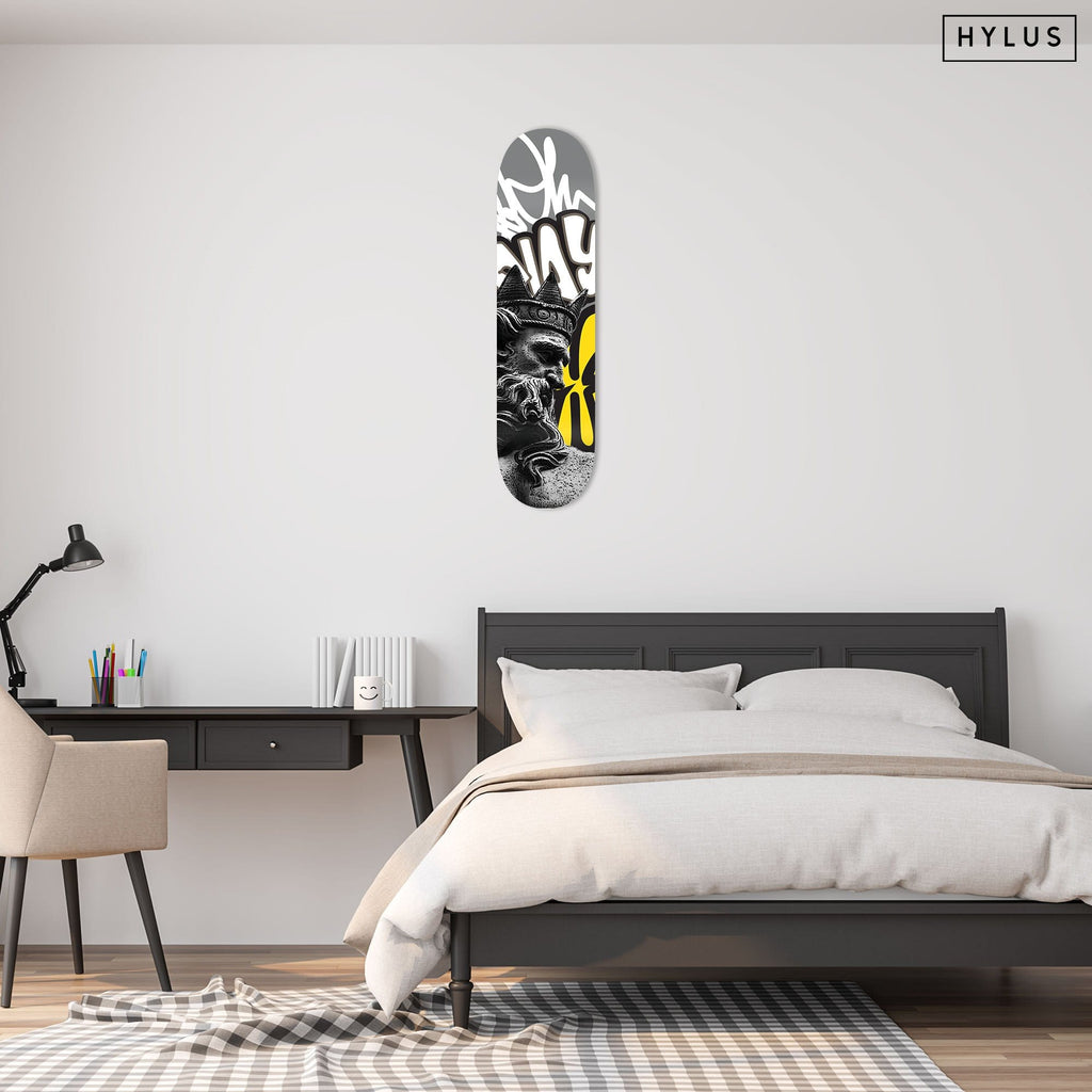"""Poseidon"" - Skateboard - HYLUS Acrylic Glass Art - Skateboards, Surfboards & Glass Prints Wall Decor for your Home."