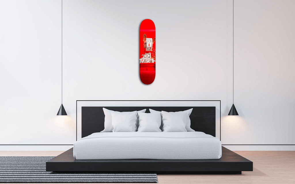 """Sup Dog"" - Skateboard - HYLUS Acrylic Glass Art - Skateboards, Surfboards & Glass Prints Wall Decor for your Home."