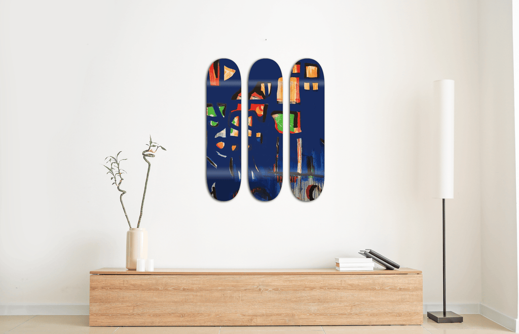 """Neptun"" - Skateboard - HYLUS Acrylic Glass Art - Skateboards, Surfboards & Glass Prints Wall Decor for your Home."