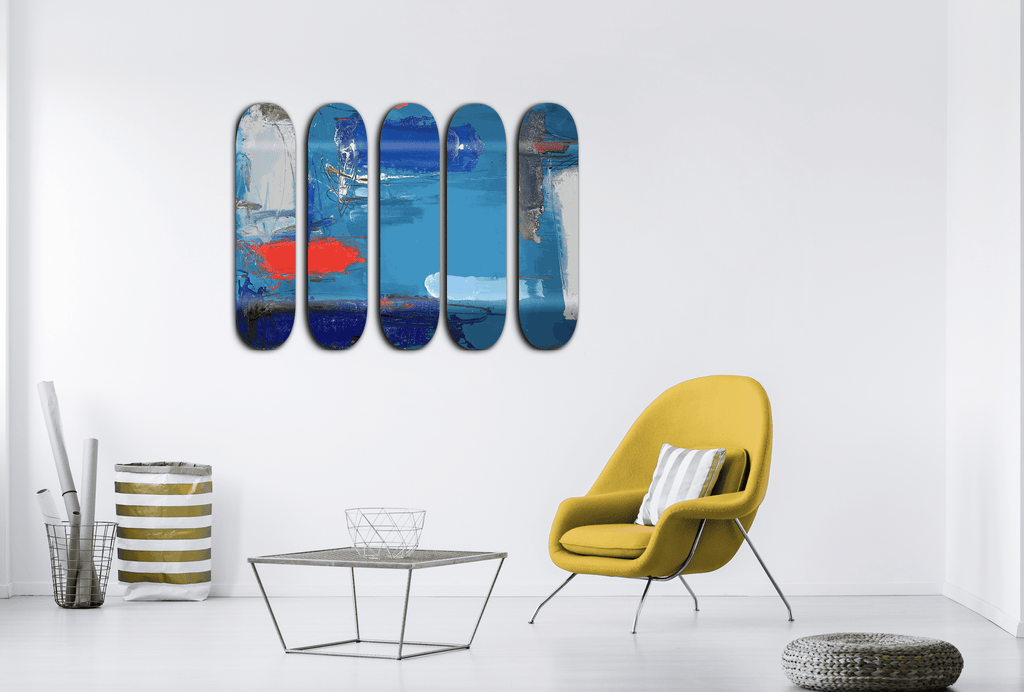 """Earth"" - Skateboard - HYLUS Acrylic Glass Art - Skateboards, Surfboards & Glass Prints Wall Decor for your Home."