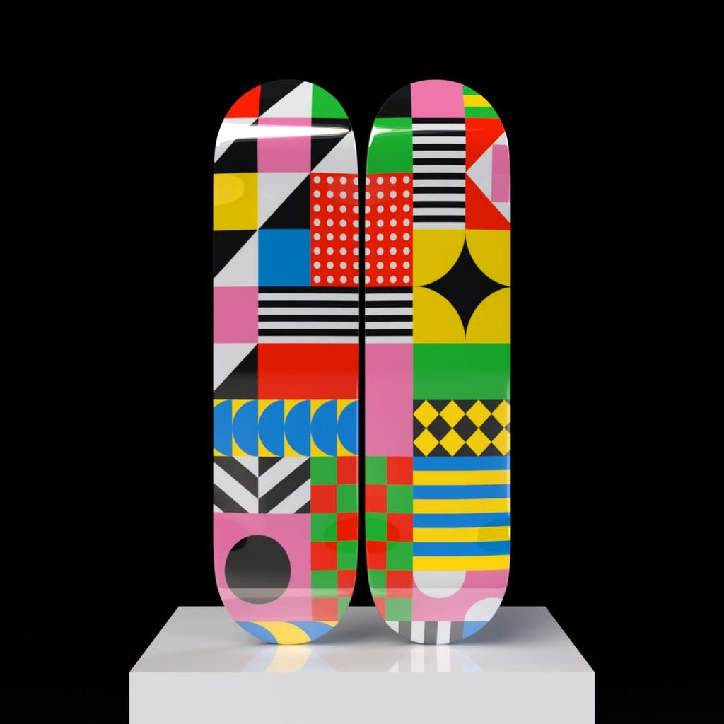"HYLUS X ZZDesign - ""Dazzling Colorful"" - Skateboard - HYLUS Acrylic Glass Art - Skateboards, Surfboards & Glass Prints Wall Decor for your Home."