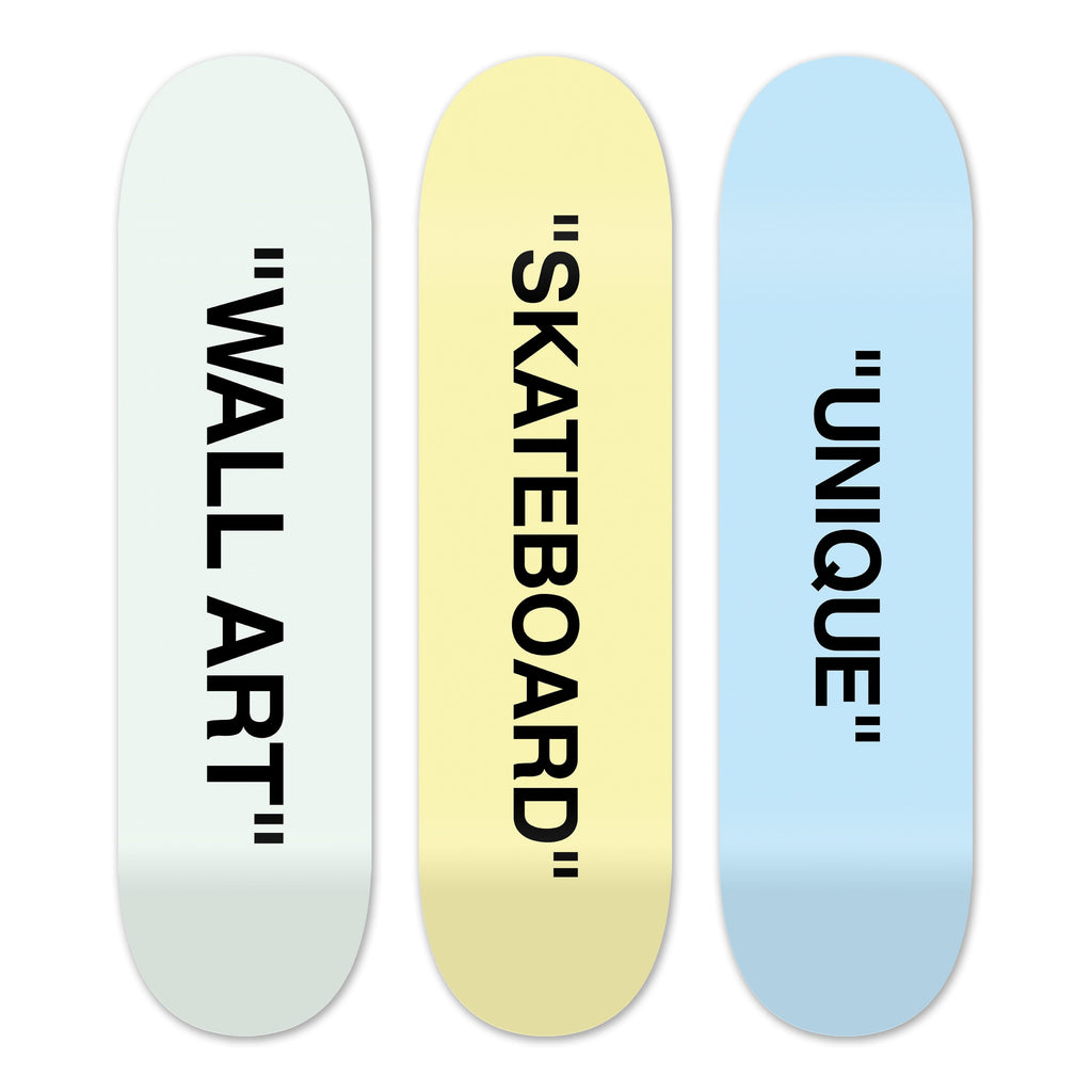 "Bundle: ""UNIQUE & SKATEBOARD & WALL ART"" - Skateboard - HYLUS Acrylic Glass Art - Skateboards, Surfboards & Glass Prints Wall Decor for your Home."