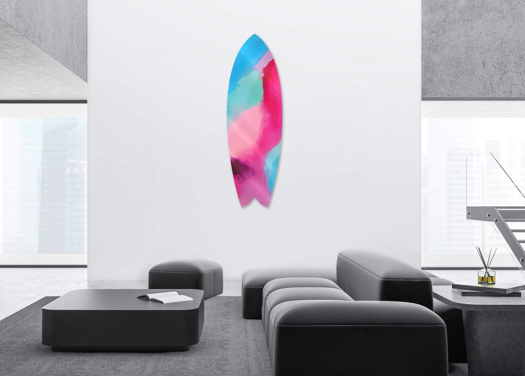 """Motion"" - Surfboard - HYLUS Acrylic Glass Art - Skateboards, Surfboards & Glass Prints Wall Decor for your Home."