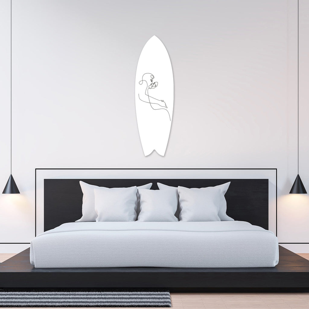 """Sensual Kiss"" - Surfboard - HYLUS Acrylic Glass Art - Skateboards, Surfboards & Glass Prints Wall Decor for your Home."
