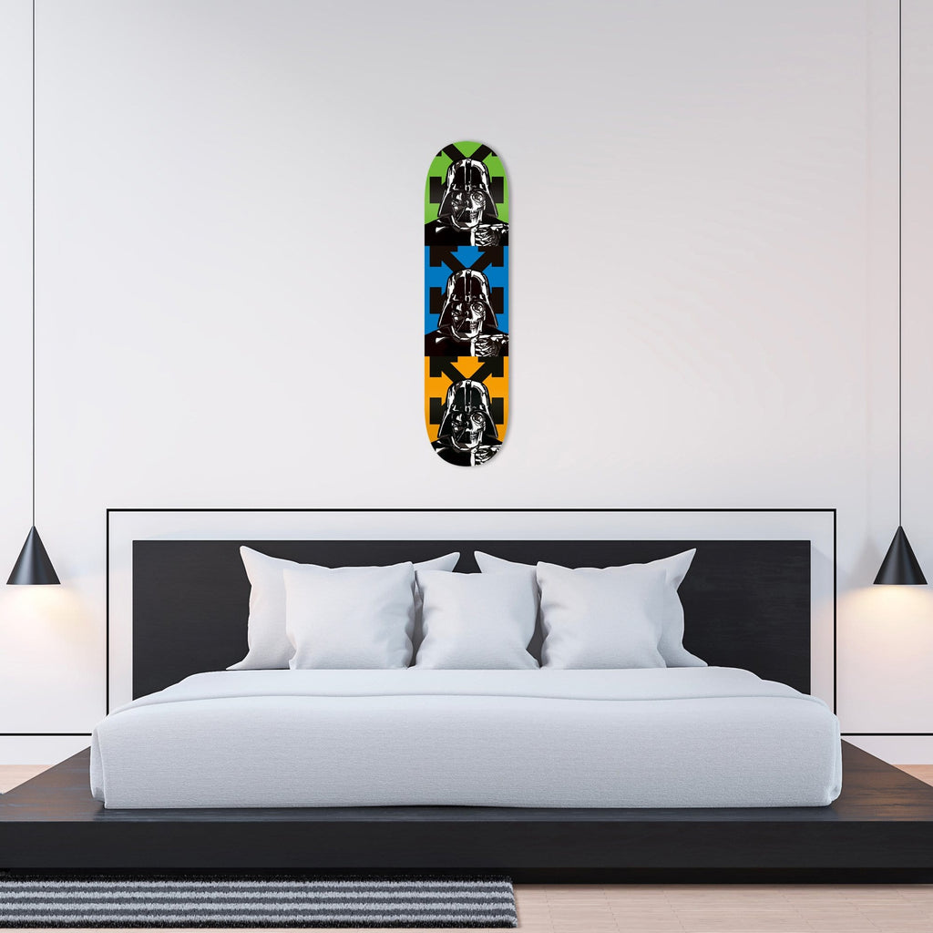 """Space OFF Blue"" - Skateboard - HYLUS Acrylic Glass Art - Skateboards, Surfboards & Glass Prints Wall Decor for your Home."