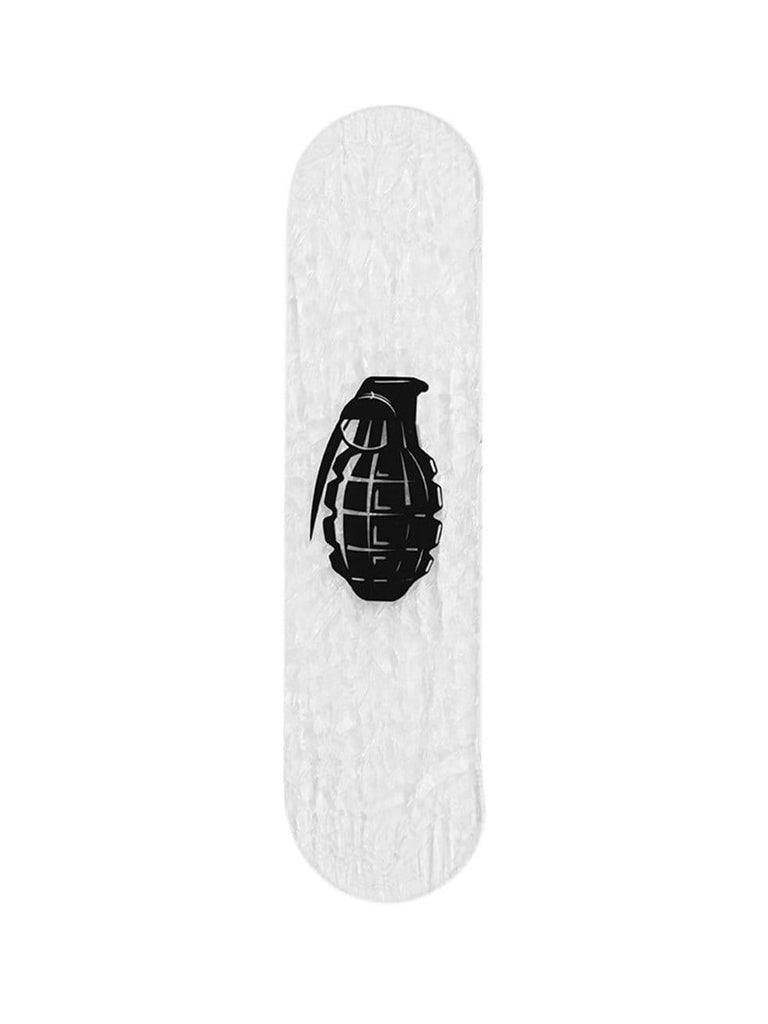 "CRYSTAL Edition: ""Grenade"" - CRYSTAL Skateboard - HYLUS Acrylic Glass Art - Skateboards, Surfboards & Glass Prints Wall Decor for your Home."