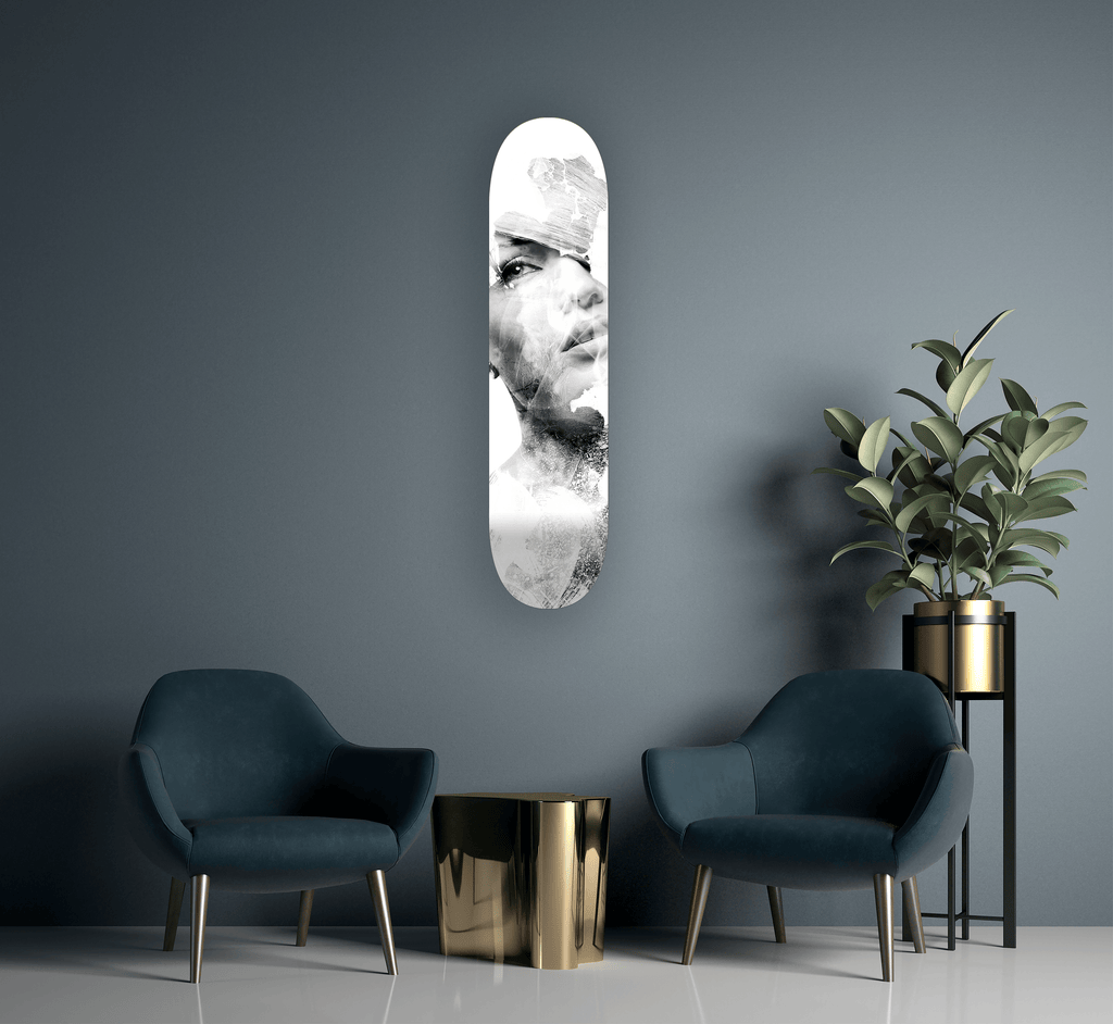 """Incomplete"" - Skateboard - HYLUS Acrylic Glass Art - Skateboards, Surfboards & Glass Prints Wall Decor for your Home."