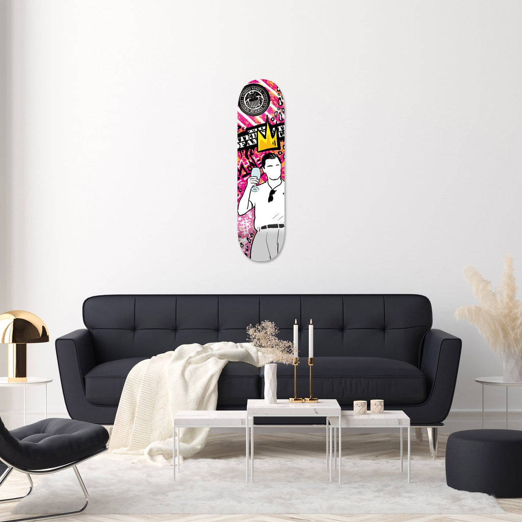 """The Wolf: King"" - Skateboard - HYLUS Acrylic Glass Art - Skateboards, Surfboards & Glass Prints Wall Decor for your Home."