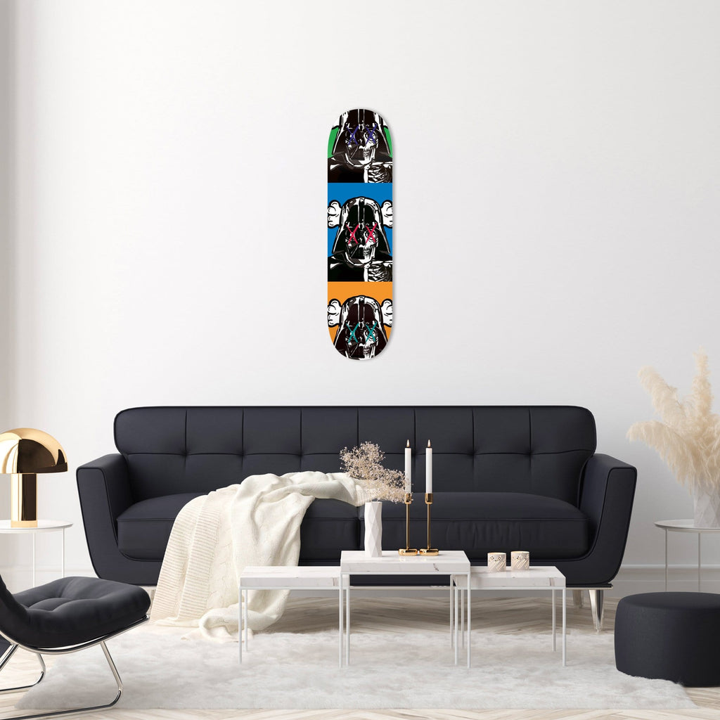 "Bundle: ""3x Space Soldier X"" - Skateboard - HYLUS Acrylic Glass Art - Skateboards, Surfboards & Glass Prints Wall Decor for your Home."