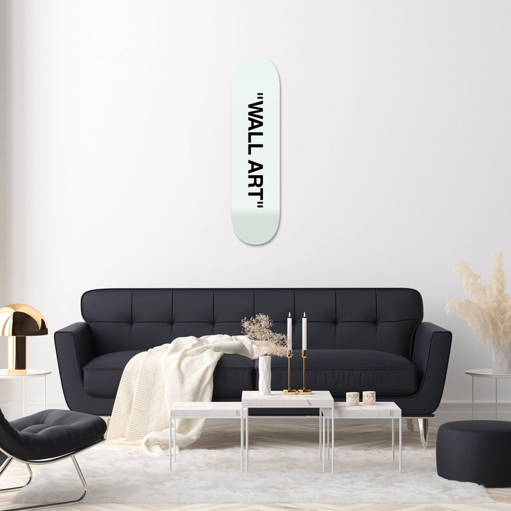 """WALL ART"" - Skateboard - HYLUS Acrylic Glass Art - Skateboards, Surfboards & Glass Prints Wall Decor for your Home."