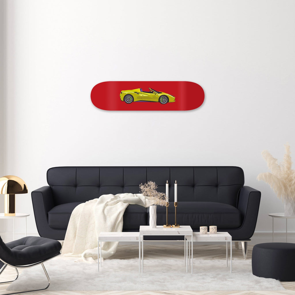 "HYLUS X Lord Aleem - ""Rari Red"" - Skateboard - HYLUS Acrylic Glass Art - Skateboards, Surfboards & Glass Prints Wall Decor for your Home."