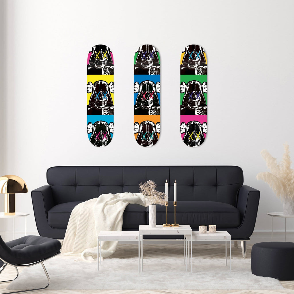 """Space Soldier X Yellow"" - Skateboard - HYLUS Acrylic Glass Art - Skateboards, Surfboards & Glass Prints Wall Decor for your Home."