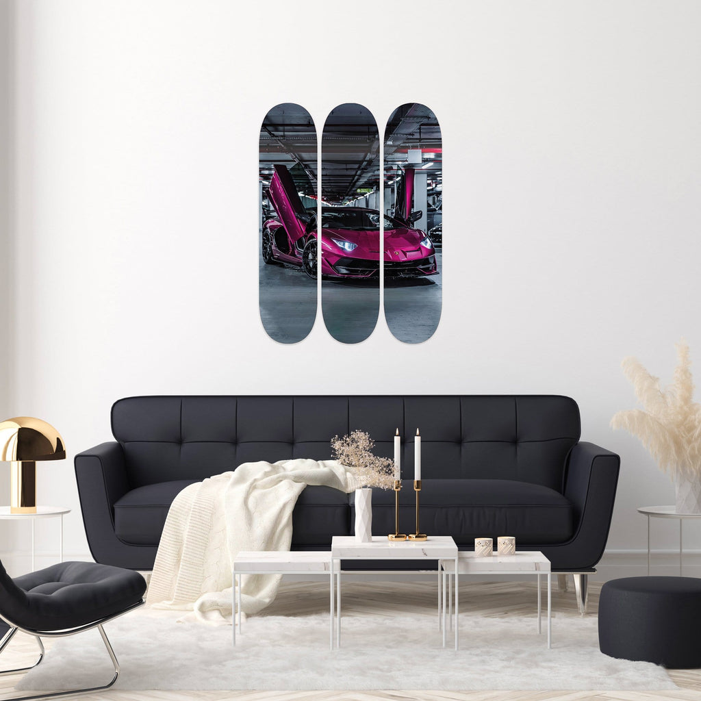 "HYLUS X Lord Aleem: ""Doors Up"" - Skateboard - HYLUS Acrylic Glass Art - Skateboards, Surfboards & Glass Prints Wall Decor for your Home."