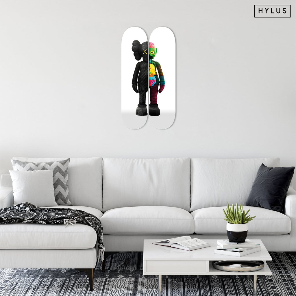 """Buddy Black x2"" - Skateboard - HYLUS Acrylic Glass Art - Skateboards, Surfboards & Glass Prints Wall Decor for your Home."