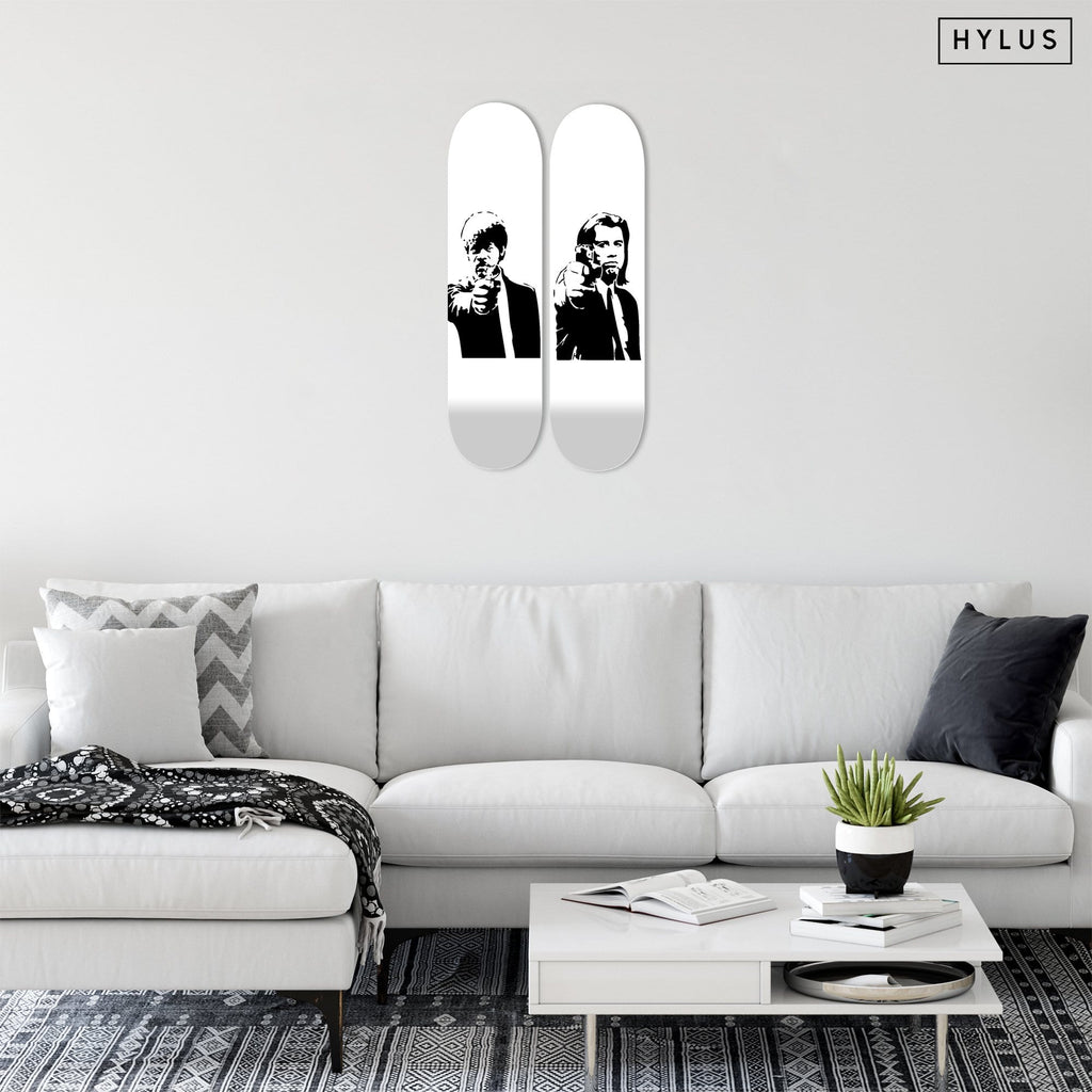 """Jules & Vincent"" - Skateboard - HYLUS Acrylic Glass Art - Skateboards, Surfboards & Glass Prints Wall Decor for your Home."