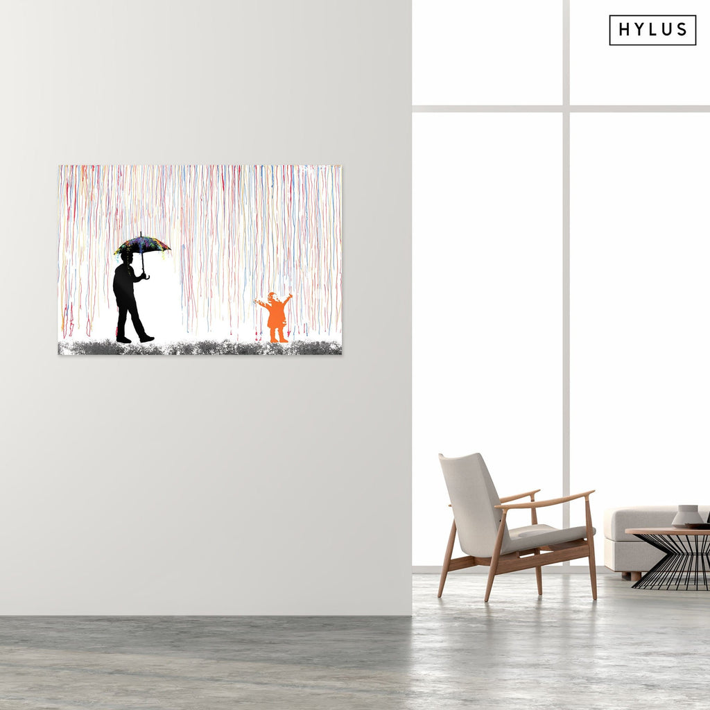 """Under the Rain"" - Glass Print - HYLUS Acrylic Glass Art - Skateboards, Surfboards & Glass Prints Wall Decor for your Home."