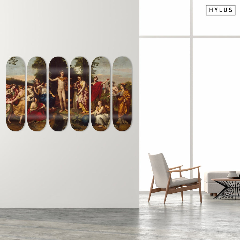 """Parnassus"" - Skateboard - HYLUS Acrylic Glass Art - Skateboards, Surfboards & Glass Prints Wall Decor for your Home."