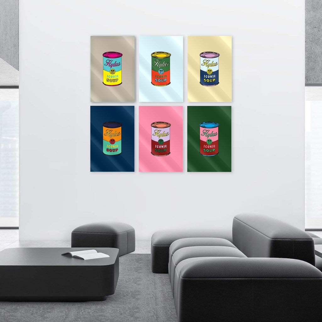 "Bundle: ""Soup King"" - Glass Print - HYLUS Acrylic Glass Art - Skateboards, Surfboards & Glass Prints Wall Decor for your Home."