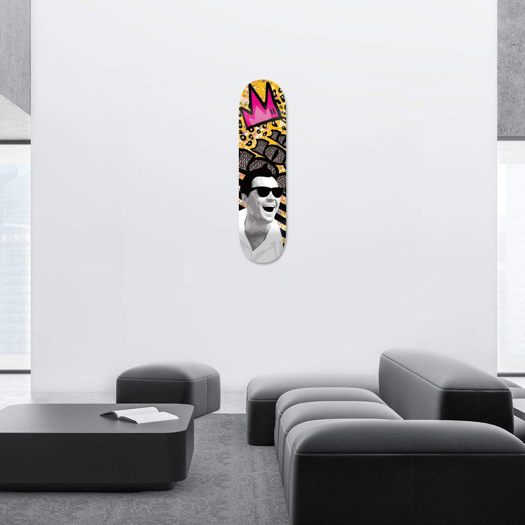 "Bundle: ""The Wolf: Who's the Boss? & Fist Bite & King"" - Skateboard - HYLUS Acrylic Glass Art - Skateboards, Surfboards & Glass Prints Wall Decor for your Home."