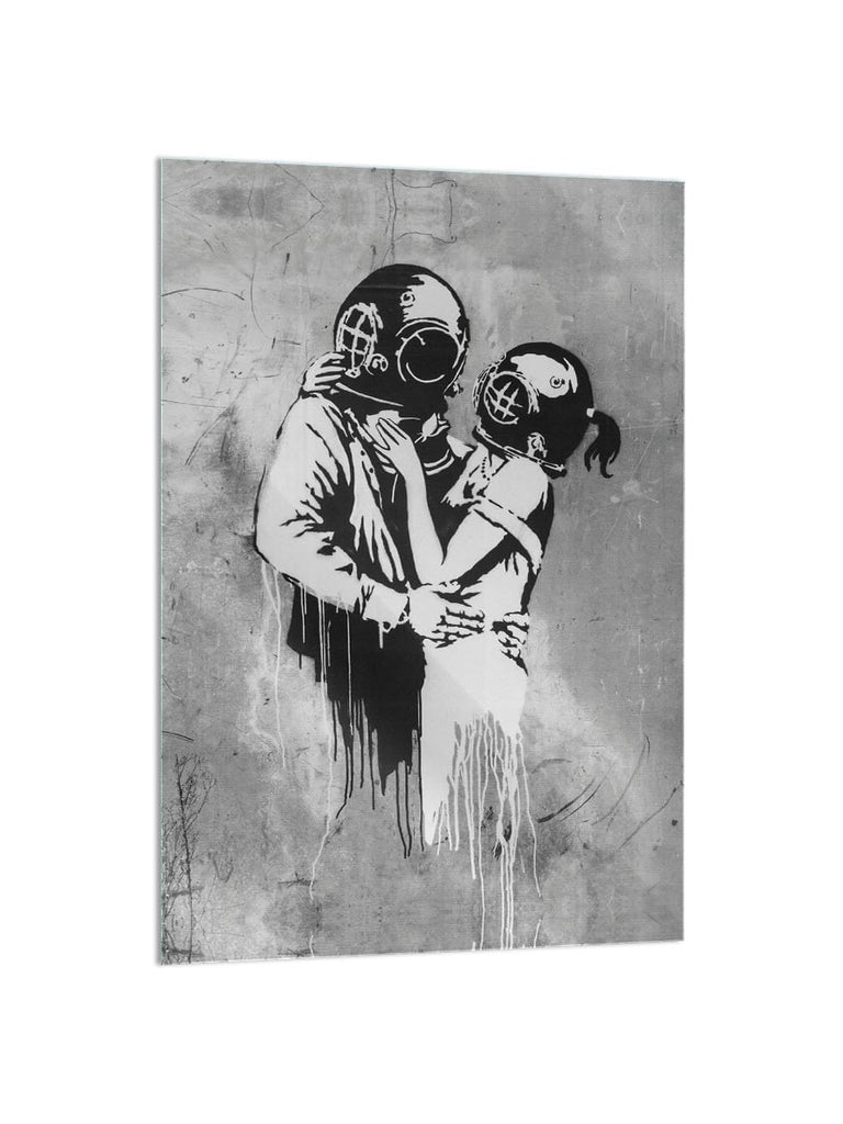 """Masked Love"" - Glass Print - HYLUS Acrylic Glass Art - Skateboards, Surfboards & Glass Prints Wall Decor for your Home."