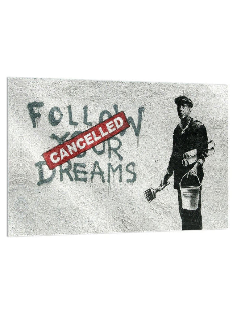 """Cancelled Dreams"" - Glass Print - HYLUS Acrylic Glass Art - Skateboards, Surfboards & Glass Prints Wall Decor for your Home."