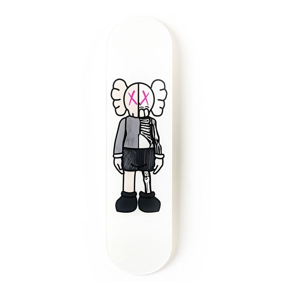 """Buddy White Pink"" - Skateboard - HYLUS Acrylic Glass Art - Skateboards, Surfboards & Glass Prints Wall Decor for your Home."