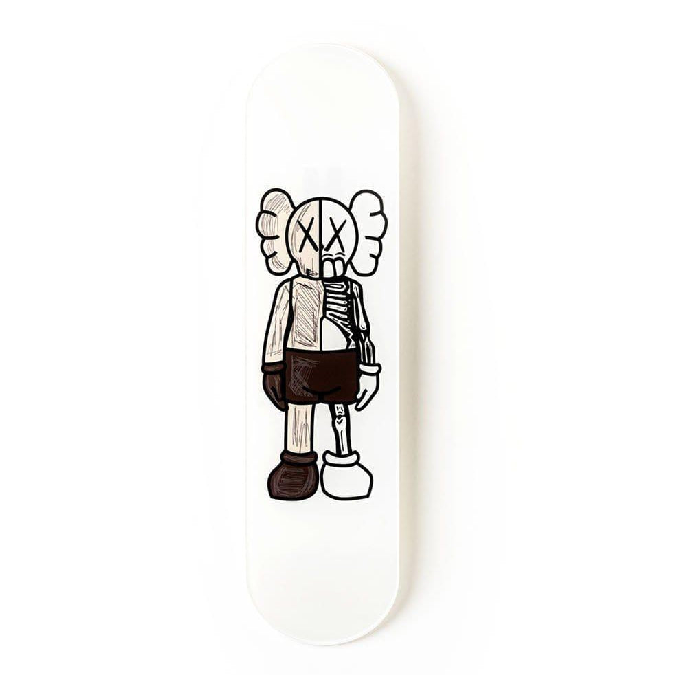 """Buddy Brown"" - Skateboard - HYLUS Acrylic Glass Art - Skateboards, Surfboards & Glass Prints Wall Decor for your Home."