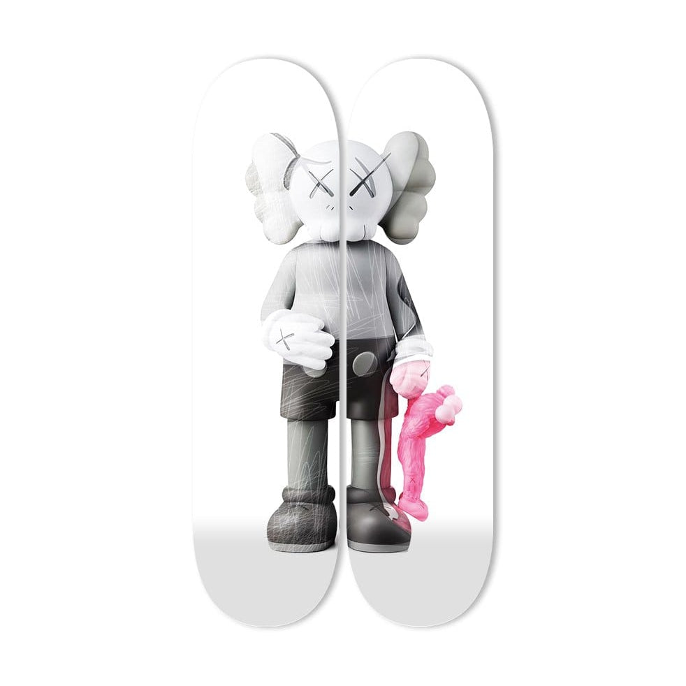 """Buddy Pink x2"" - Skateboard - HYLUS Acrylic Glass Art - Skateboards, Surfboards & Glass Prints Wall Decor for your Home."