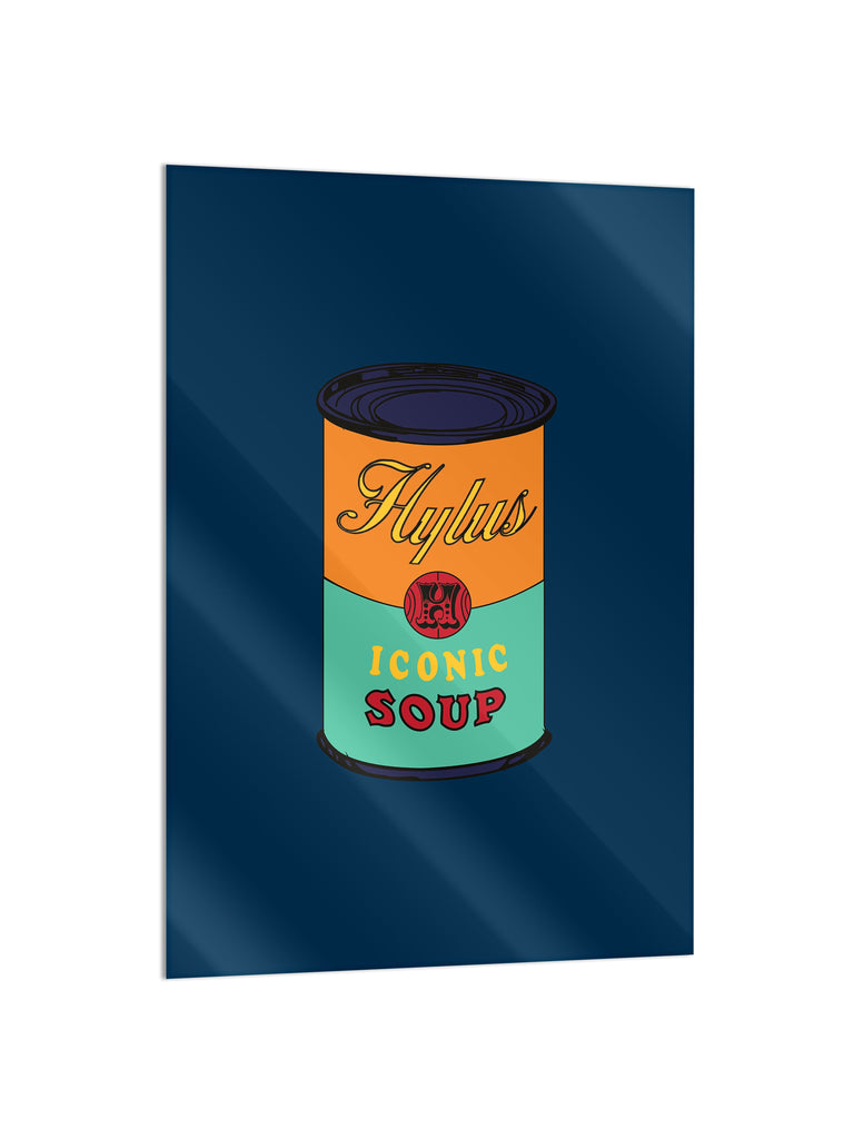 """Soup Blue"" - Glass Print - HYLUS Acrylic Glass Art - Skateboards, Surfboards & Glass Prints Wall Decor for your Home."