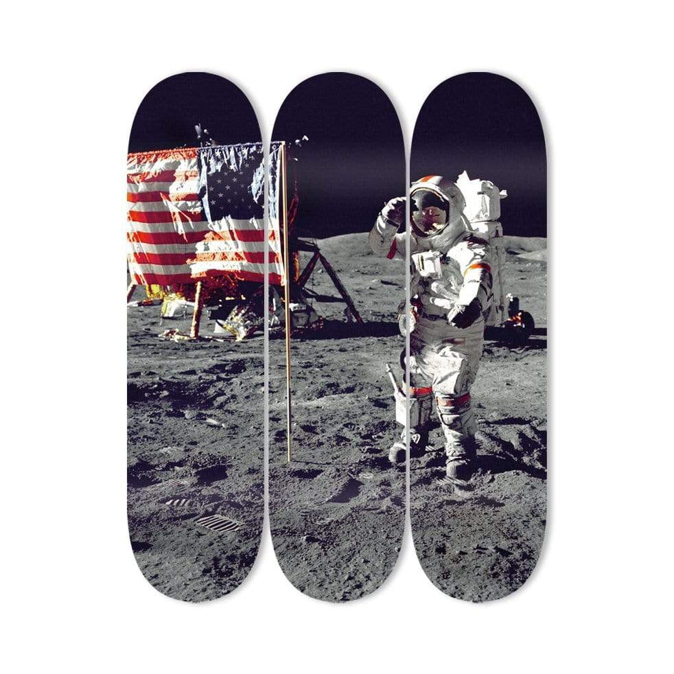 """On the Moon"" - Skateboard - HYLUS Acrylic Glass Art - Skateboards, Surfboards & Glass Prints Wall Decor for your Home."