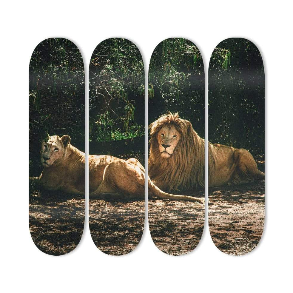 """King and Queen"" - Skateboard - HYLUS Acrylic Glass Art - Skateboards, Surfboards & Glass Prints Wall Decor for your Home."