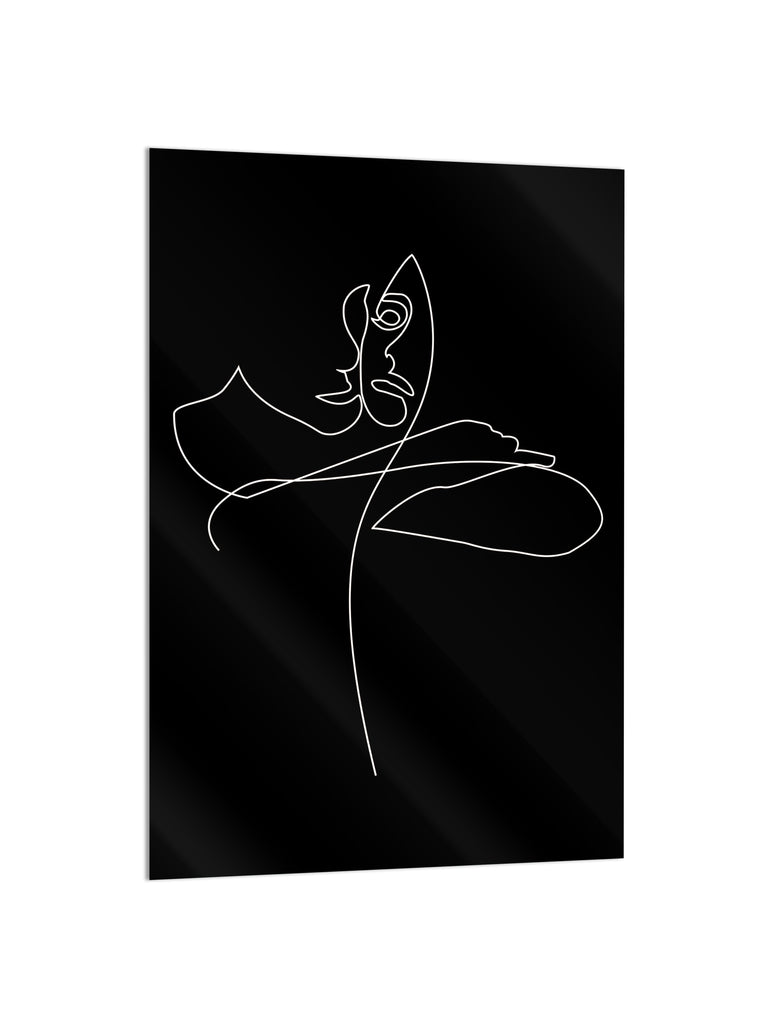 """Sensual Choke Black"" - Glass Print - HYLUS Acrylic Glass Art - Skateboards, Surfboards & Glass Prints Wall Decor for your Home."