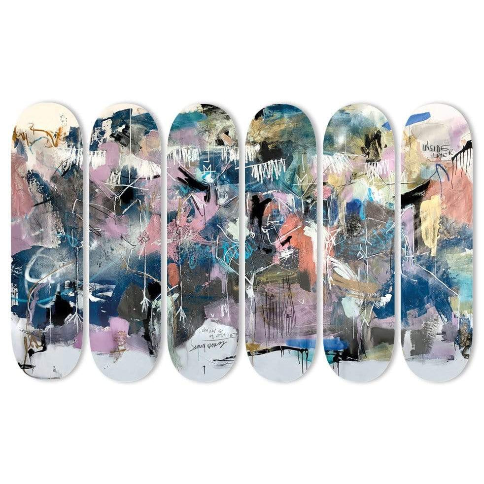 "HYLUS X JENNY PEREZ - ""Coming Home"" - Skateboard - HYLUS Acrylic Glass Art - Skateboards, Surfboards & Glass Prints Wall Decor for your Home."