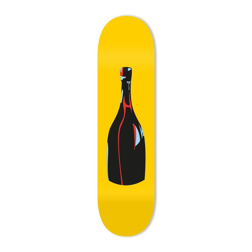 """Champagne Yellow"" - Skateboard - HYLUS Acrylic Glass Art - Skateboards, Surfboards & Glass Prints Wall Decor for your Home."