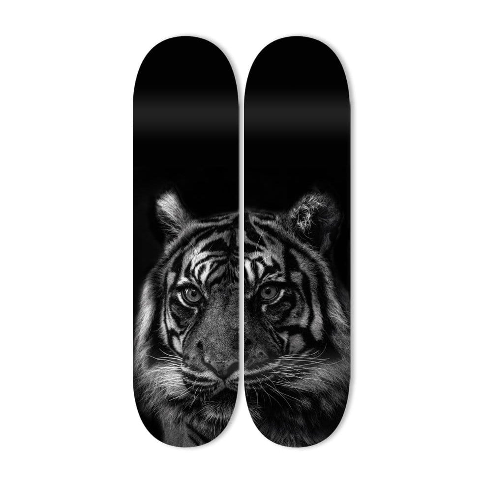 """Tiger Eyes"" - Skateboard - HYLUS Acrylic Glass Art - Skateboards, Surfboards & Glass Prints Wall Decor for your Home."
