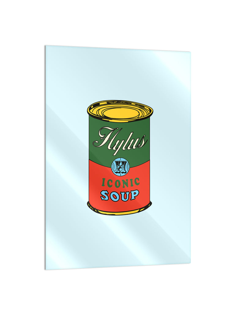 """Soup Light Blue"" - Glass Print - HYLUS Acrylic Glass Art - Skateboards, Surfboards & Glass Prints Wall Decor for your Home."