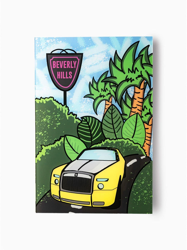 """Beverly Hills: Double R"" - Glass Print - HYLUS Acrylic Glass Art - Skateboards, Surfboards & Glass Prints Wall Decor for your Home."